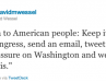 Obama Encourage People to Tweet Members of Congress
