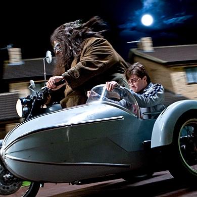 Robbie Coltraine and Daniel Radcliffe