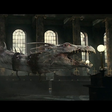 Dragon at Gringotts