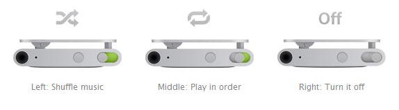 ipod shuffle switch