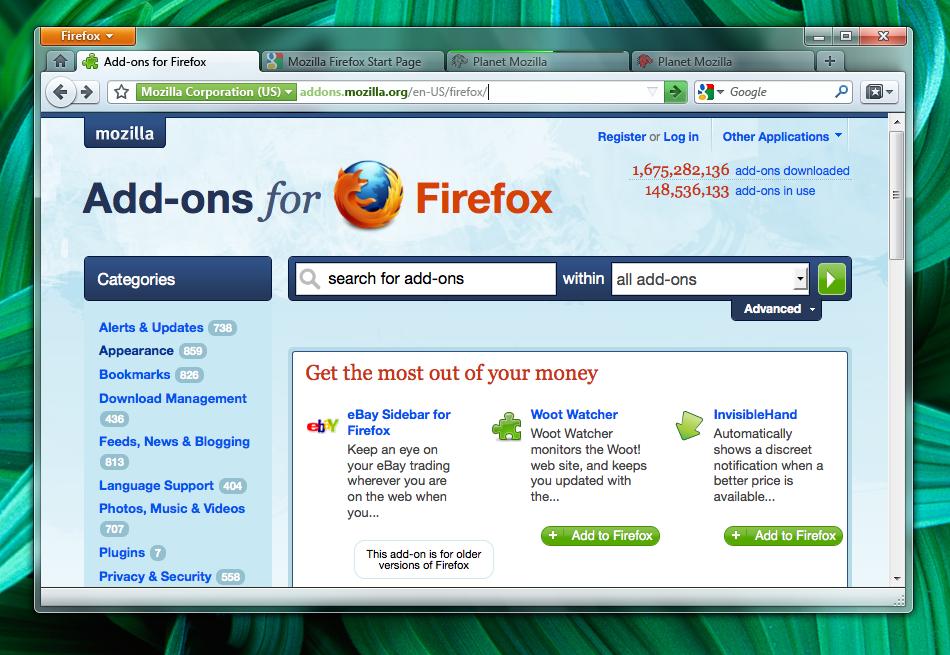 Internet Softwares Mozilla-firefox-4-screenshot