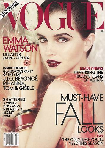 emma watson vogue 2011 july. Emma Watson Graces the Cover
