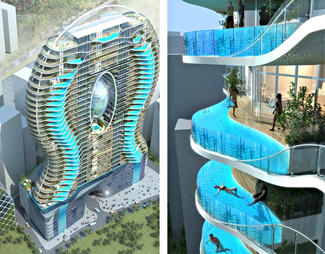 Luxury Apartment Provides Residents With Private Pools On Their Balconies All We Like
